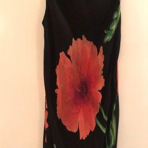 Nostalgia Dresses - Nostalgia Black and Red Floral Maxi Dress, Jrs L